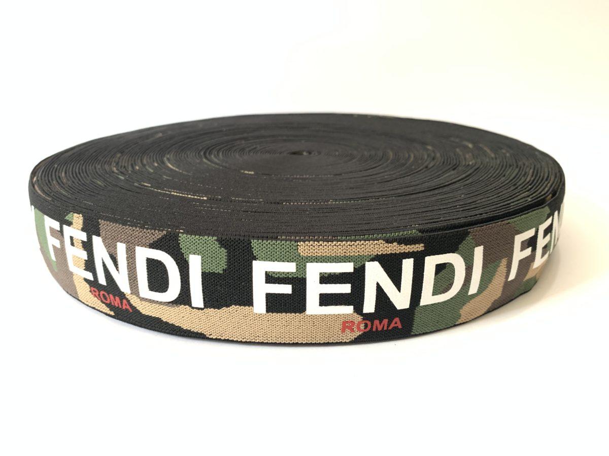 """Fendi Inspired Elastic Trim 1.5"""" 1"""