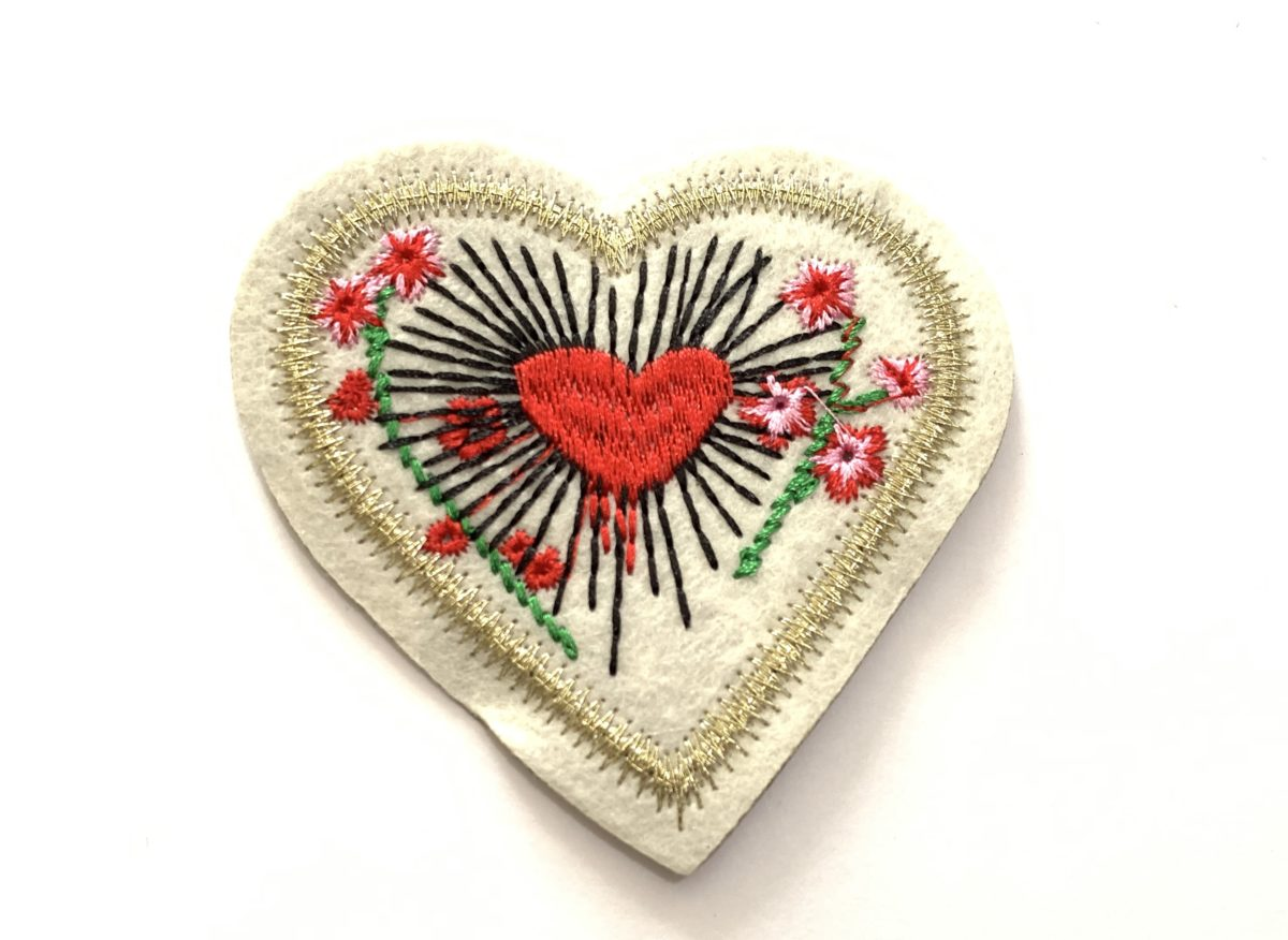 Beautiful Woven Heart Patch, DIY, Iron On 1