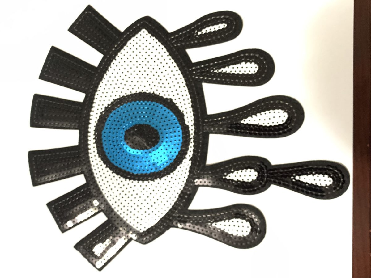 Lucky Eye Sequin Patch, Iron On, DIY 1