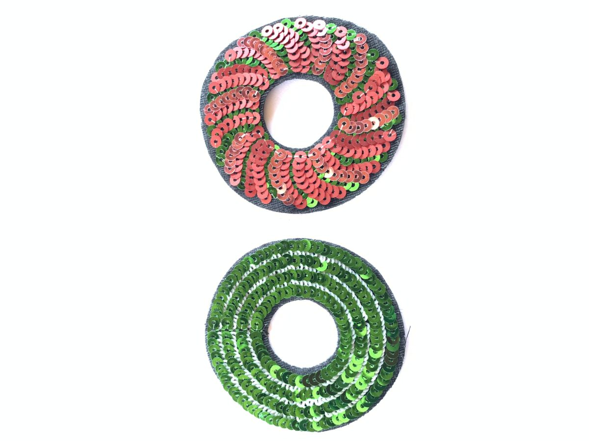 (2) Decorative Circle Patches, Sew On, DIY 1