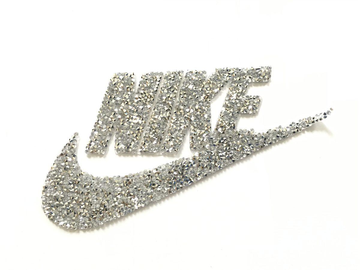 NEW Rhinestone Nike Inspired Patch, Applique,  Iron On, Hot fi,  DIY Clothing 1