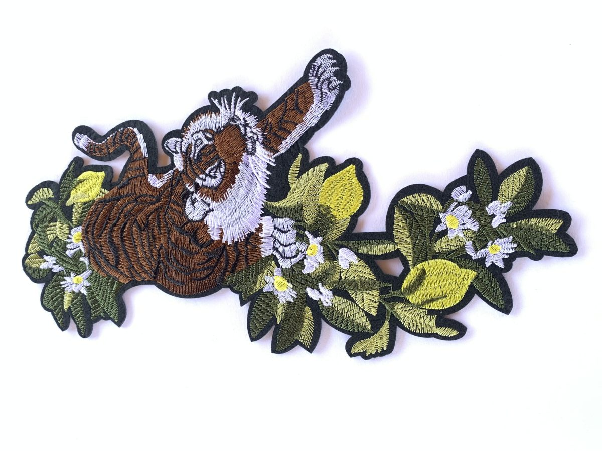 Embroidered Tiger Patch, DIY, Iron On Patch 1