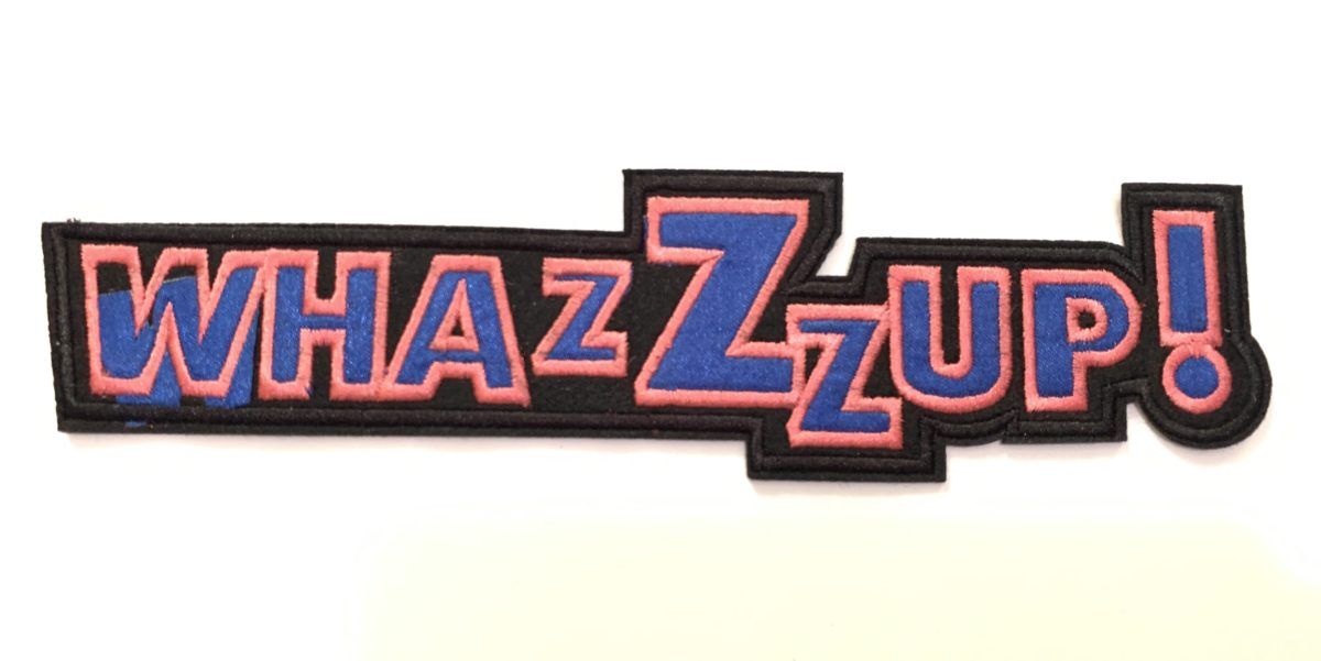 WhazZzup Patch, Iron On, DIY 1