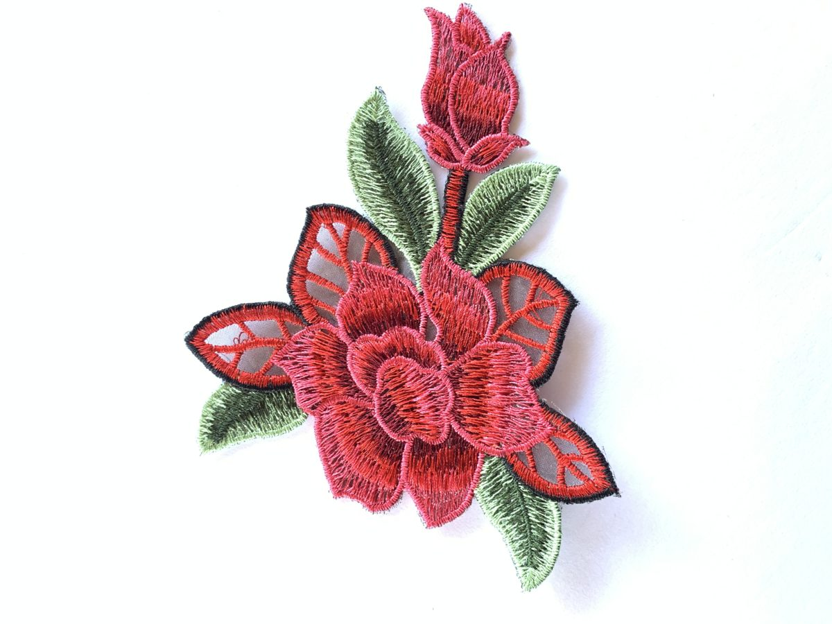 Beautiful Embroidered Flower Patch, DIY, Iron On 1