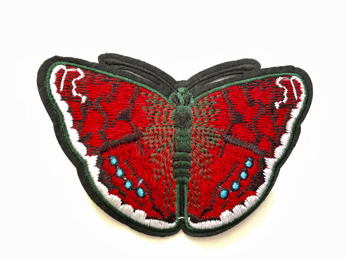Embroidered Butterfly Patch, DIY, Iron On Patch 1