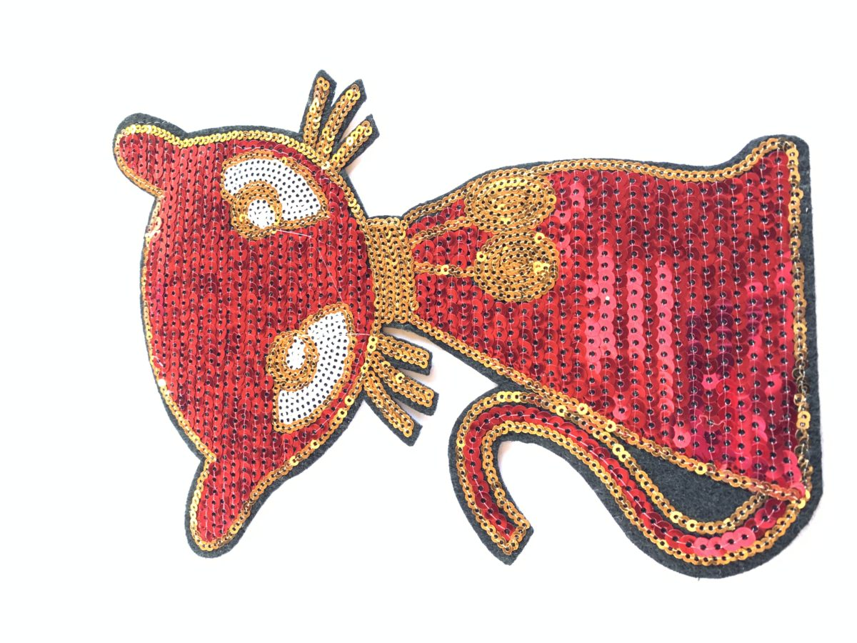 New Sexy Sequin Kitty Patch, DIY, Iron On Patch, Hot fix Patch 1