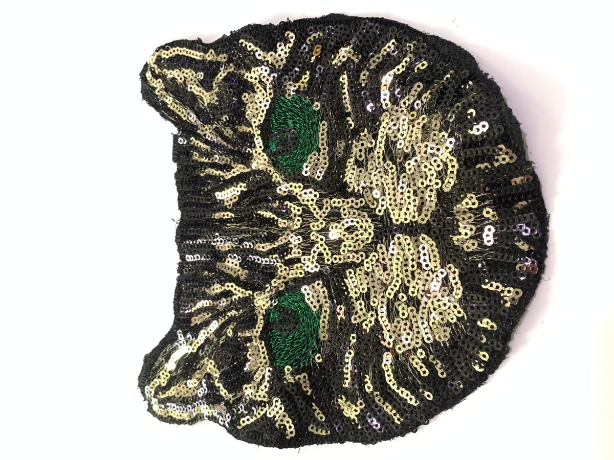 Beautiful Sequin Cat Patch, DIY, Sew On Patch Designer Inspired Gucci 1