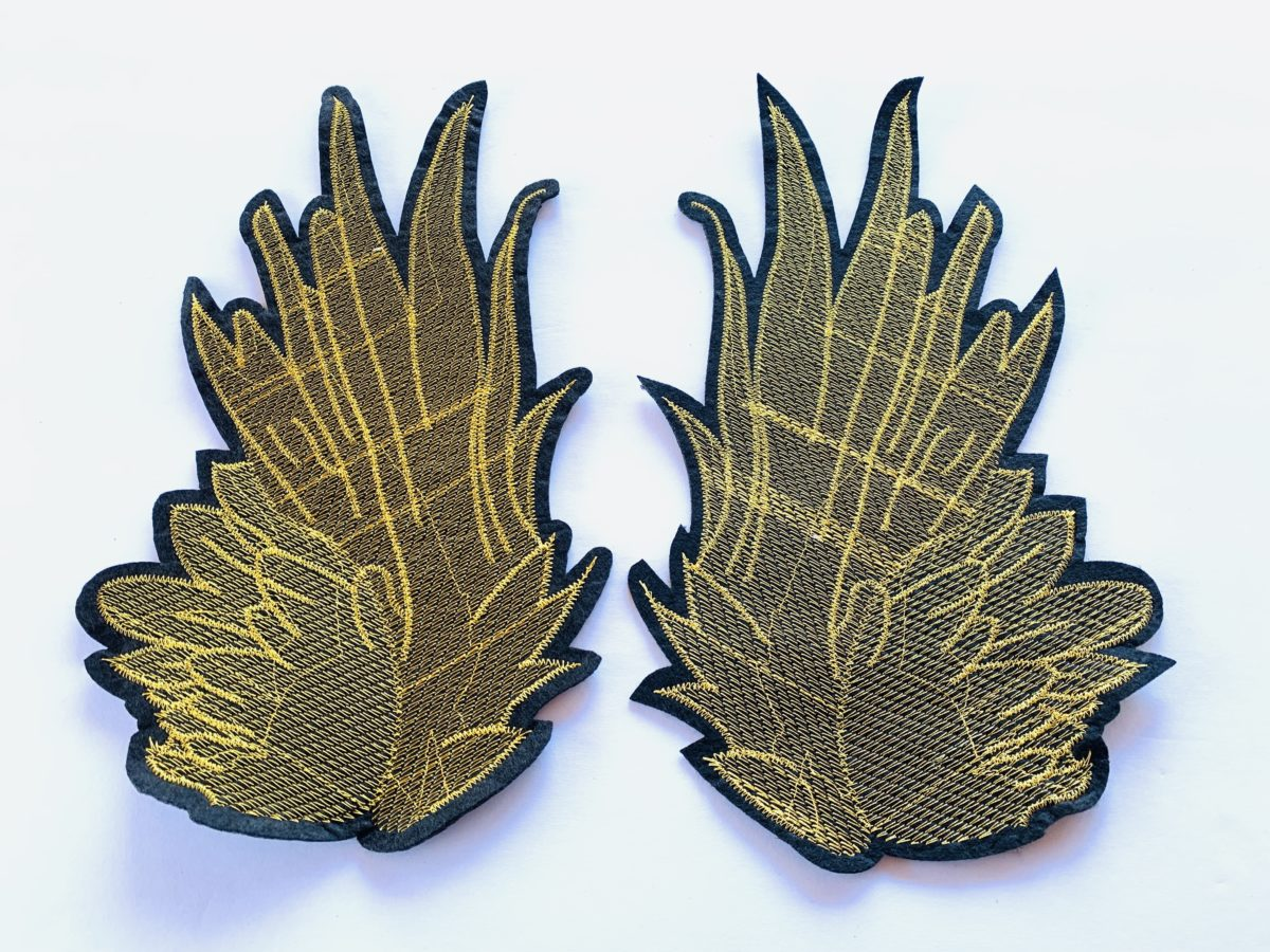 (2) Large Beautiful Wings Patch, DIY, Sew On Patches 1