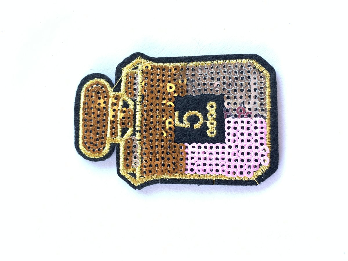 Perfume Bottle Sequin Patch, Iron On, DIY 1