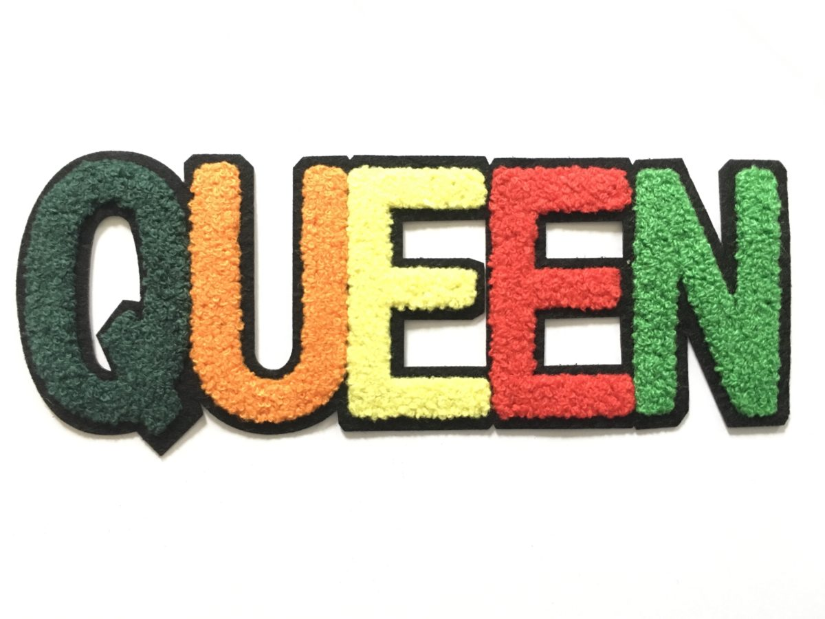 New QUEEN Towel Fabric Patch, Queen Patch Iron On 1
