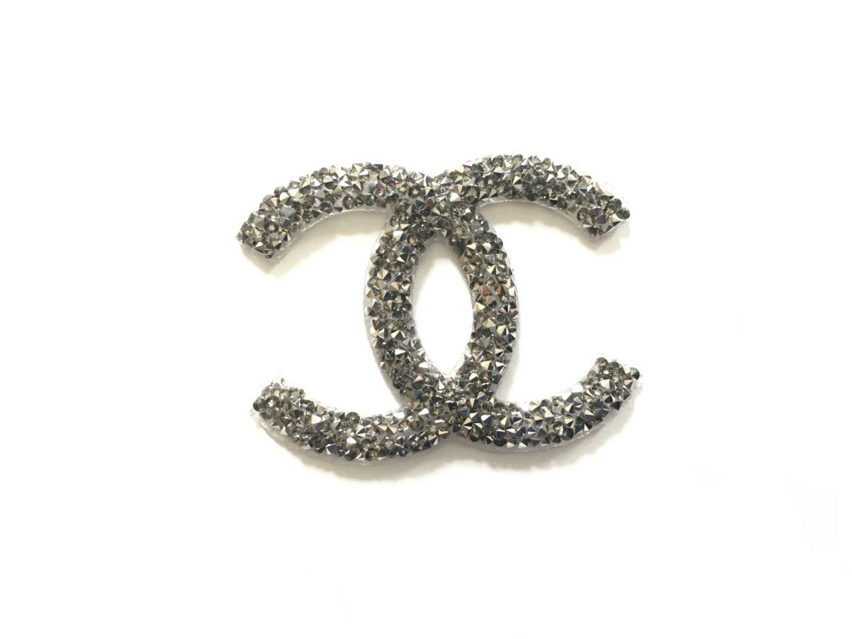 New Chanel Rhinestone Patch, Chanel Emblem, Hotfix. Iron On 1