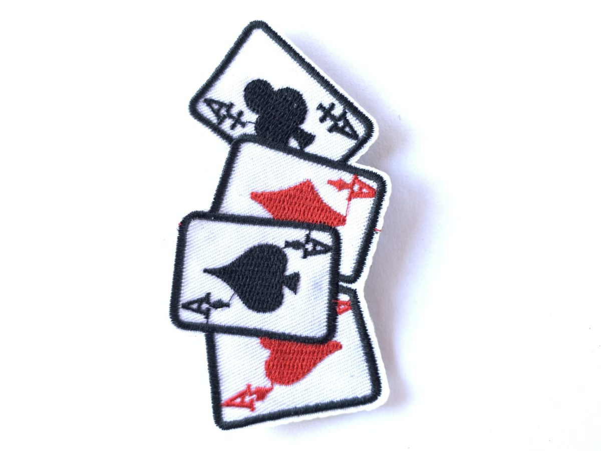 Ace Playing Cards Patch, Iron On, DIY 1