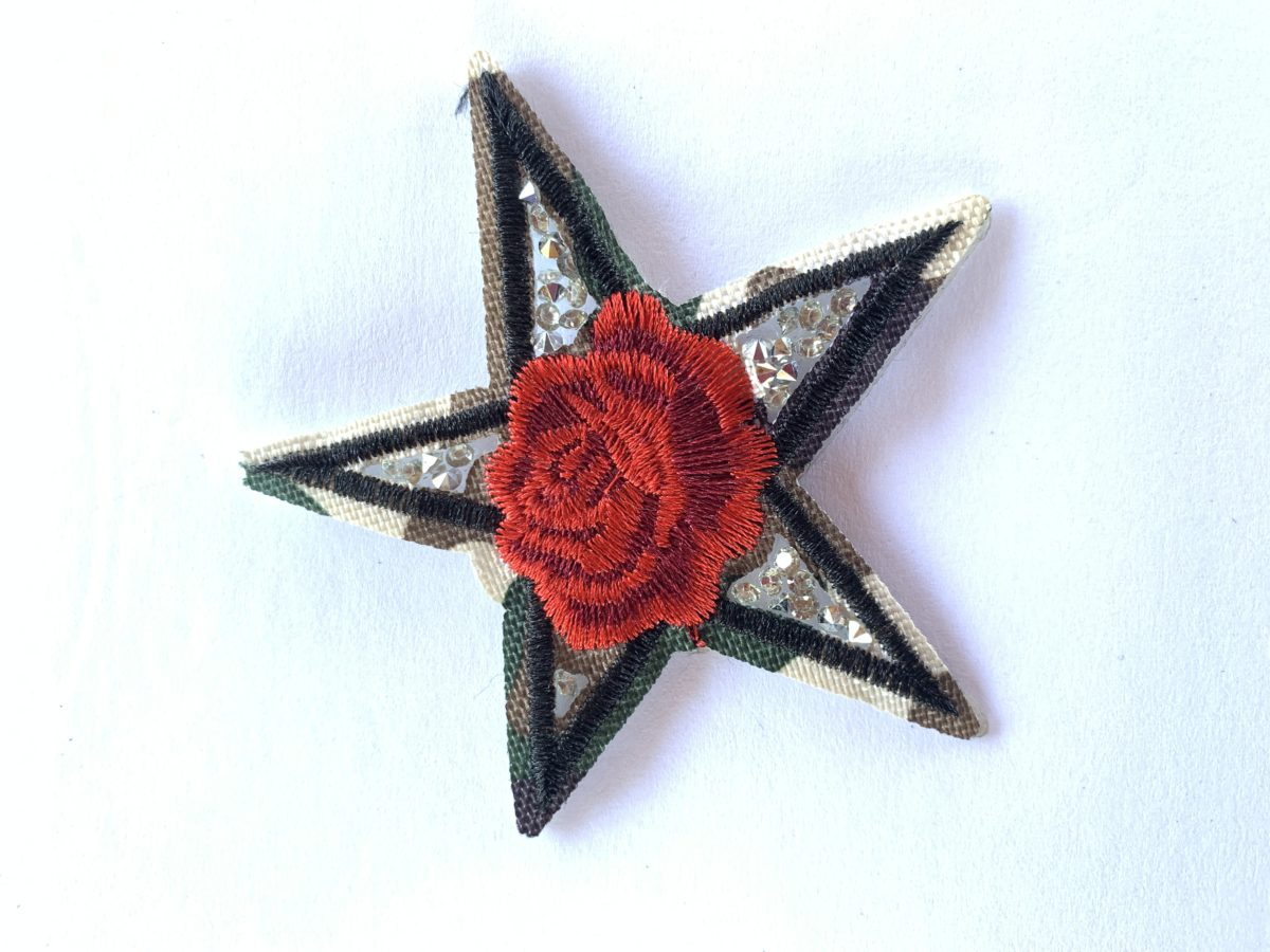 Camouflage Star Patch, Iron On, DIY 1