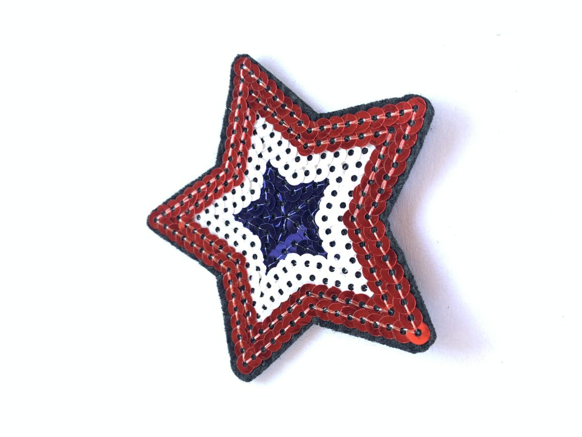 Sequin Star Patches, Iron On, DIY 1