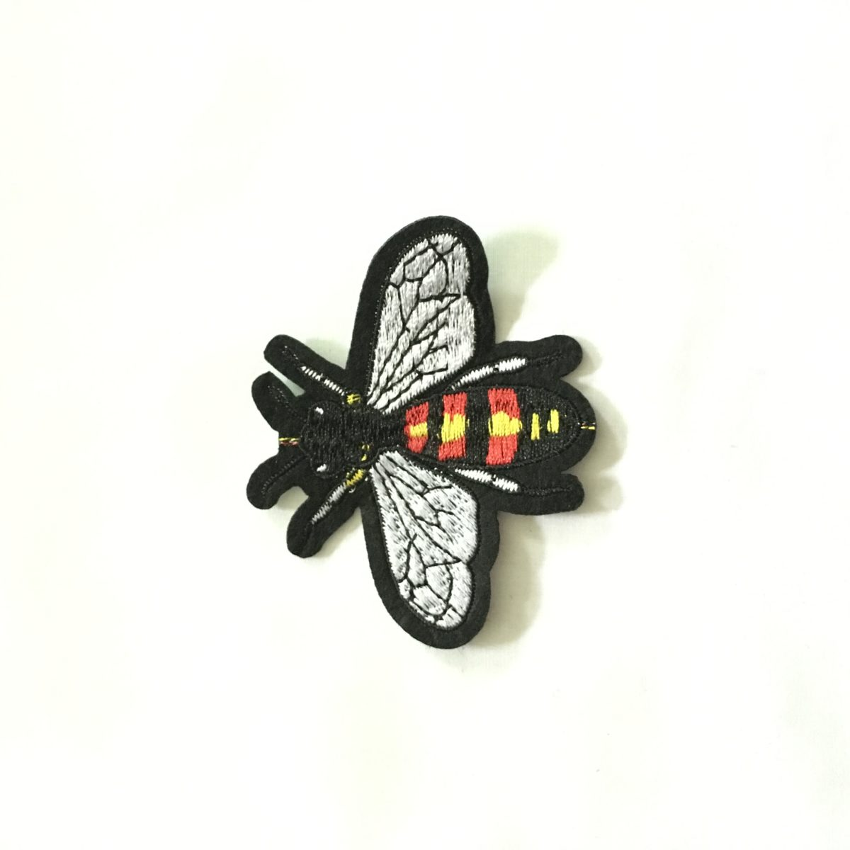 Beautiful Embroidered Bee Patch, DIY, Iron On Patch, Hot fix Patch 1