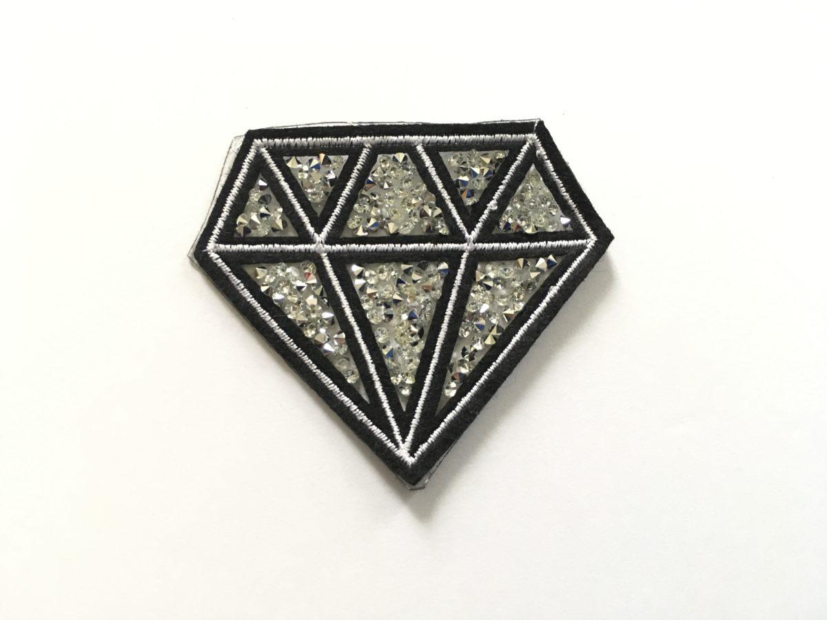 Beautiful Diamond Patch, Rhinestone Bling Patch,  Iron On 1