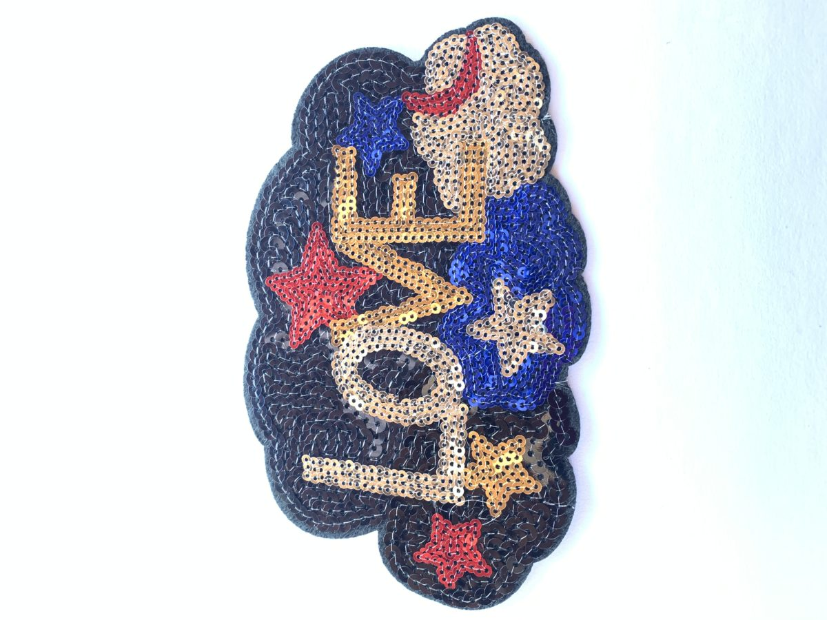 Love Sequin Patch, Iron On, DIY 1