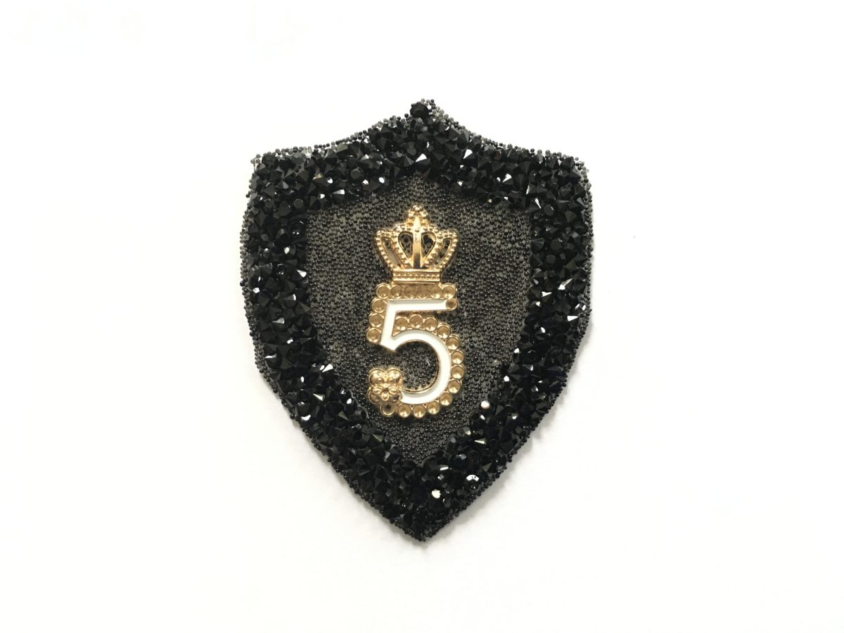 New N5 Rhinestone Patch, Iron On, CC Inspired Patch 1