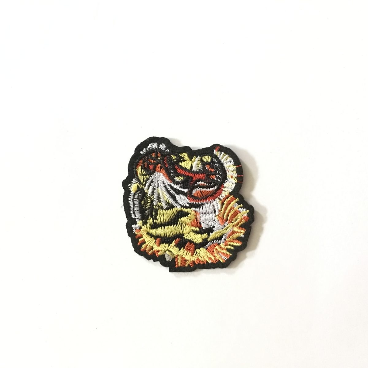 Small Embroidered Tiger Patch Appliqué, Iron On, Hot Fix, DIY 1