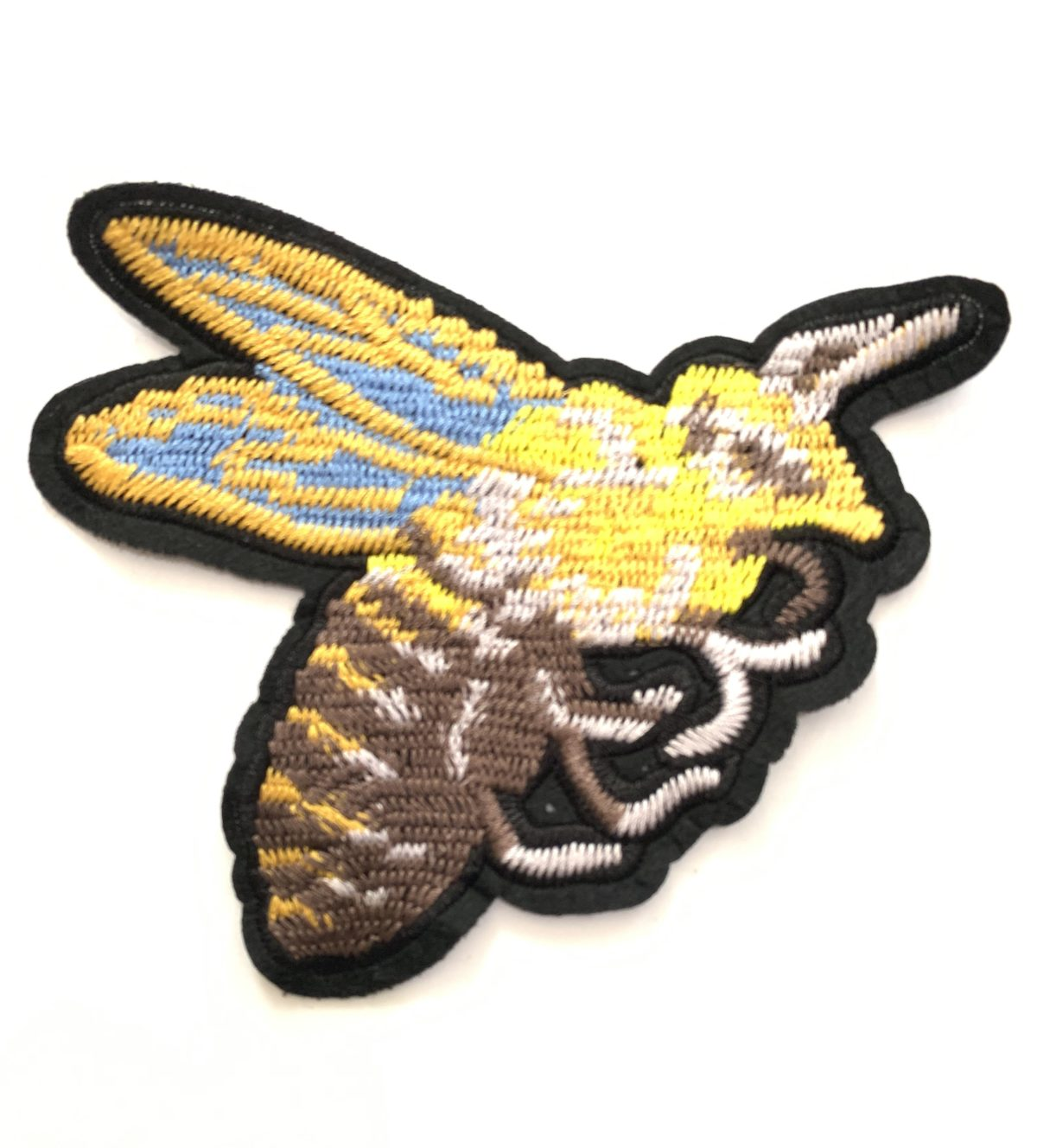 Beautiful Woven Bee Patch, Sew on Patch 1