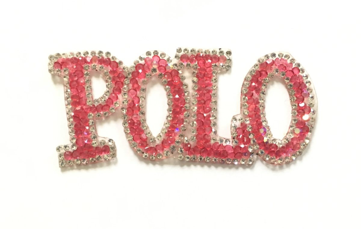 Polo Patch, Inspired Rhinestone Patch,  Iron On 1