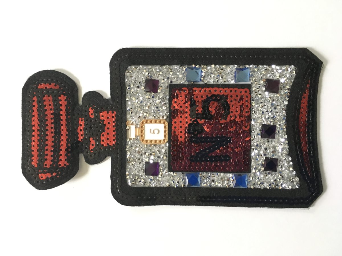 Large Rhinestone Designer Inspired N5 Patch, Applique,  Iron On, Hot fix 1