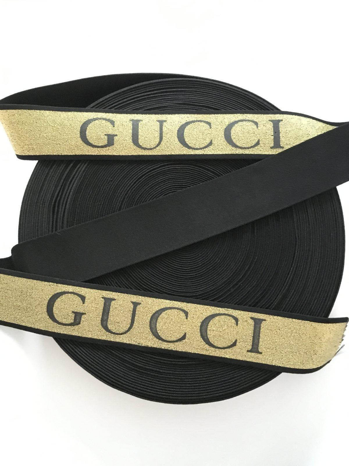 "Beautiful  Gucci Inspired Elastic Trim, 2"" 1"