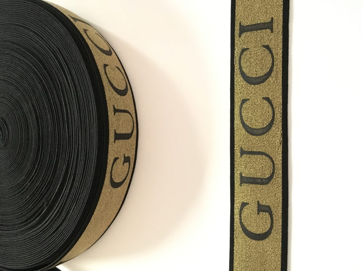 "Beautiful  Gucci Inspired Elastic Trim, 2"" 2"