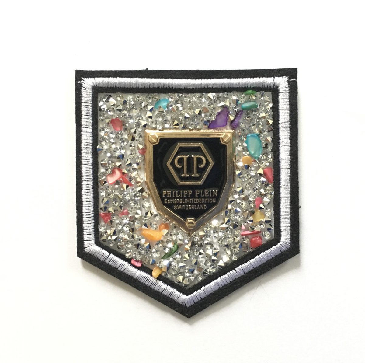 New Phillip Plein Patch, Bling Shield Patch,  Iron On 1