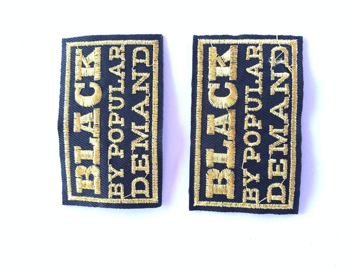 Embroidered Patches, Iron On, DIY (2pcs) 1