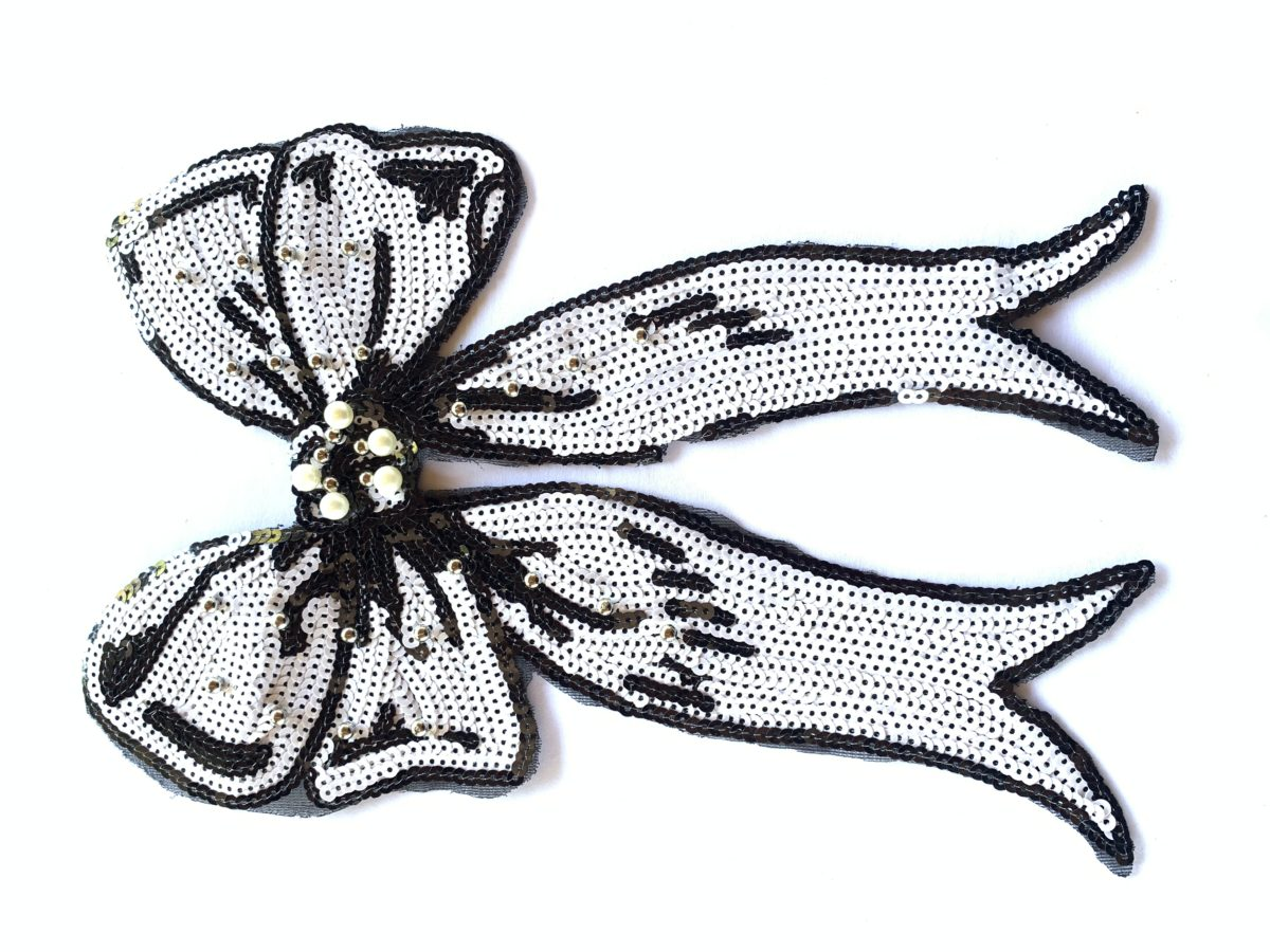 Beautiful Sequin Bow Patch, Sew On, DIY 1