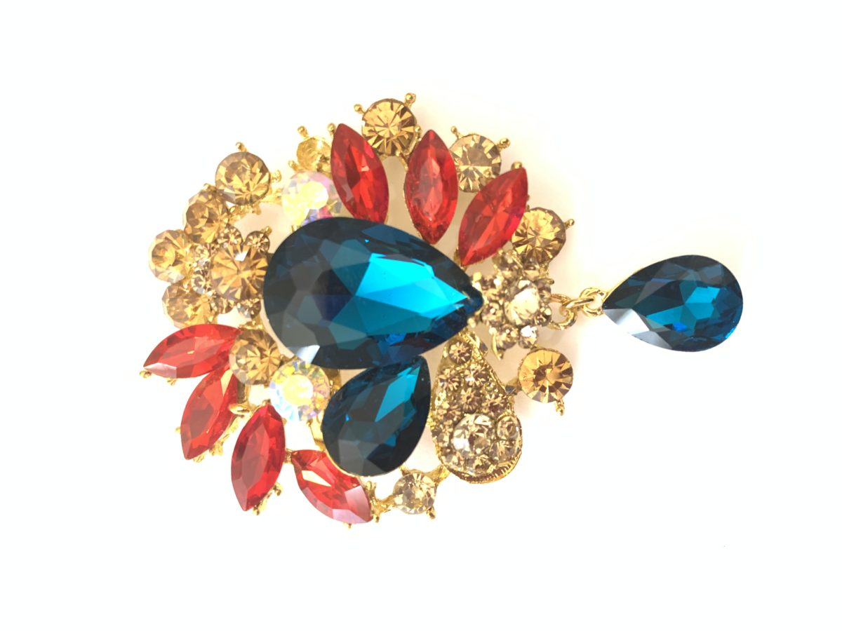 Beautiful Rhinestone Brooch Pins, Clothing Pins, Wedding Bouquet 1