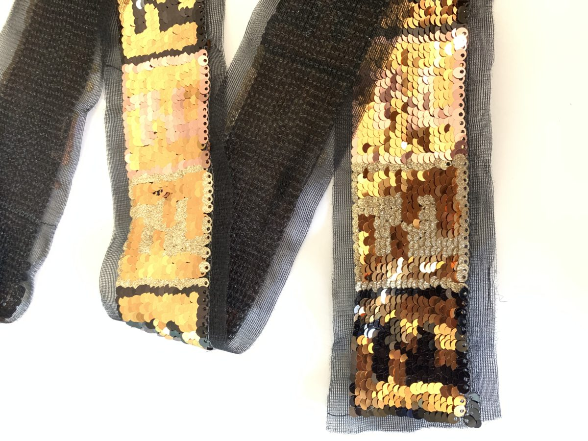 """New Celebrity Inspired FF Sequin Trim 2"""" 4"""