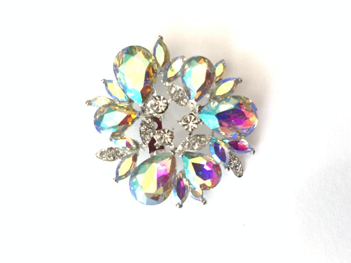 Beautiful Rhinestone Brooch Pins, Clothing Pins, Wedding Bouquet 1