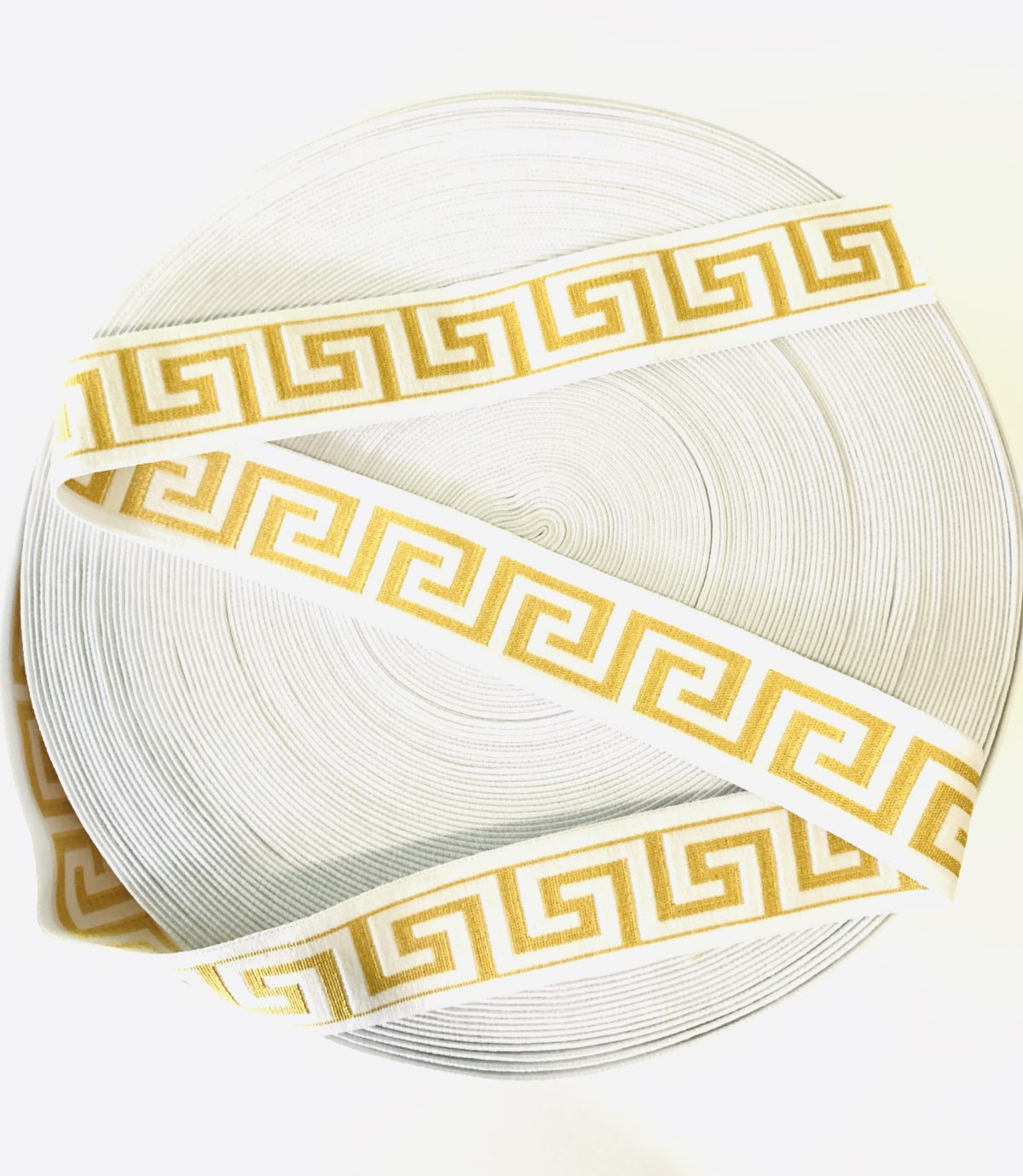 "Beautiful Versace Inspired Elastic Trim,  1.5"" 2"