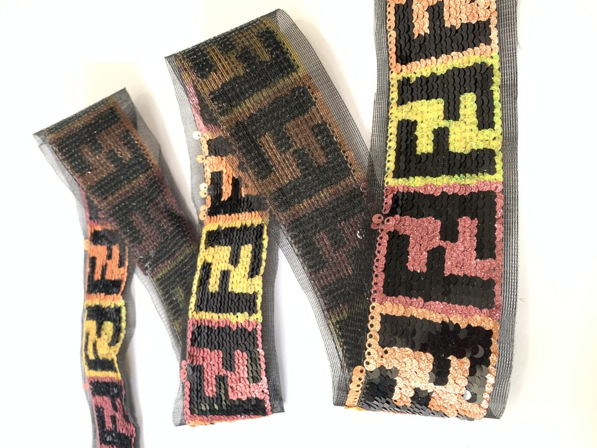 """New Celebrity Inspired FF Sequin Trim 2"""" 1"""