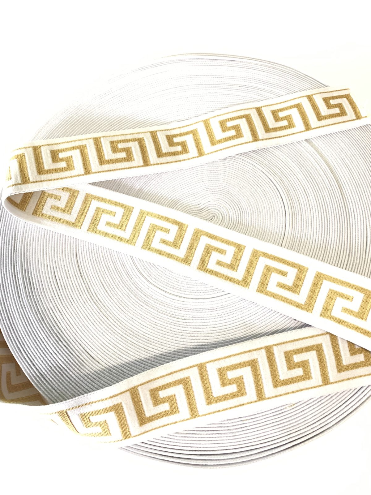 "Beautiful Versace Inspired Elastic Trim,  1.5"" 1"