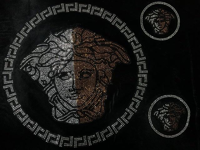 (10) Beautiful Rhinestone Transfer Sheet, Bling Shirt, Designer Inspired, Versace Inspired Transfer 1