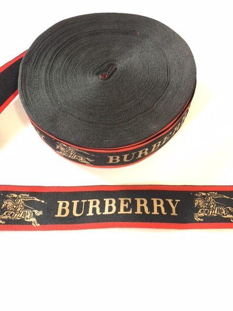 Designer Inspired Burberry Ribbon 4cm (1 Yard) 2