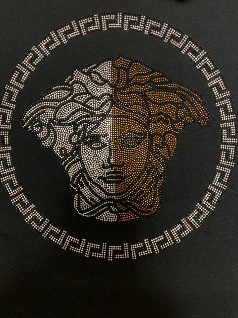 Versace Inspired Bling Rhinestone Fashion T-shirt, Versace Bling, Celebrity Inspired Shirts 2