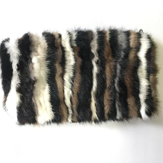 Mink Fabric, Genuine Mink Fur Plate, Mink Remnants, Fur clutch 4