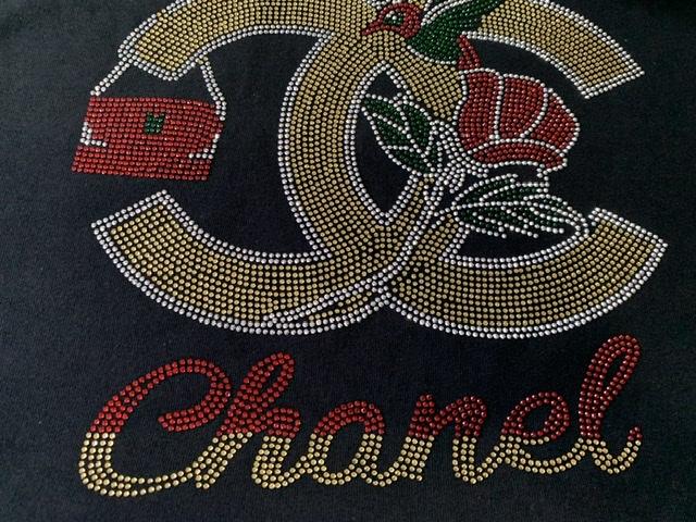 (10) Beautiful Cc Rhinestone Transfer Sheet, Bling Shirt, Designer Inspired, CC Inspired Transfer 1