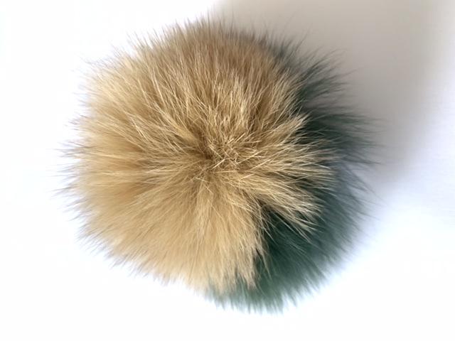 Real Fox Fur Pom Pom Fox Fur Pom pom Fur Ball, Keychain Pom Pom 2