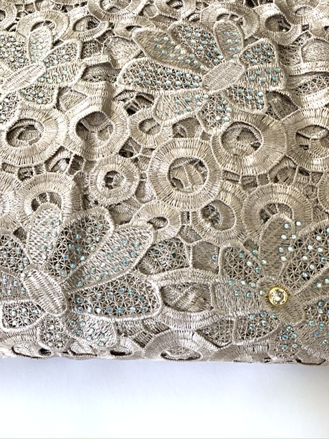 (5) Yards Gold Lace Fabric, High Quality Beading, Embroidered Lace, African Clothing 7