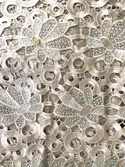 (5) Yards Gold Lace Fabric, High Quality Beading, Embroidered Lace, African Clothing 1