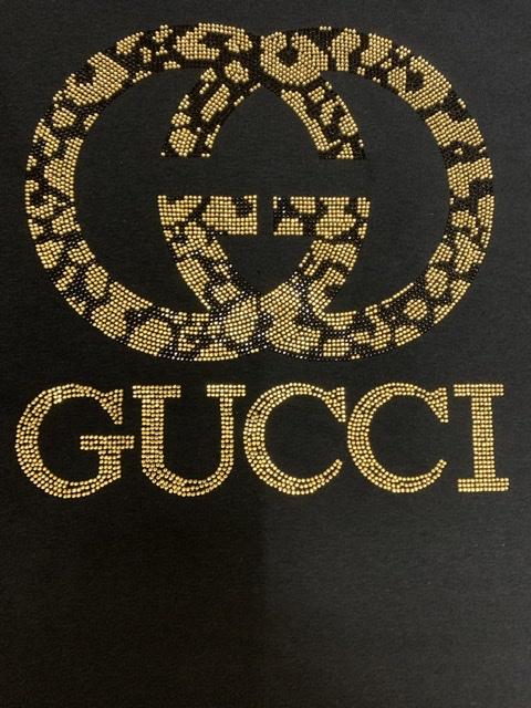 Gucci Inspired Bling Rhinestone Fashion T-shirt, Celebrity Inspired Shirts 2