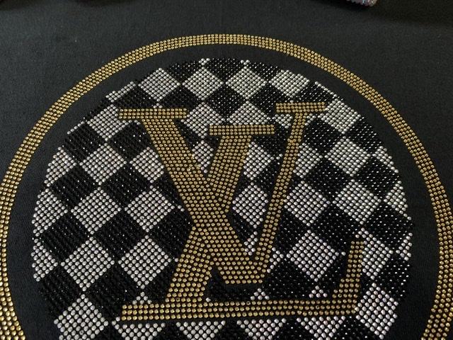 LV Inspired Bling Rhinestone Fashion T-shirt, LV Celebrity Inspired Shirts 3