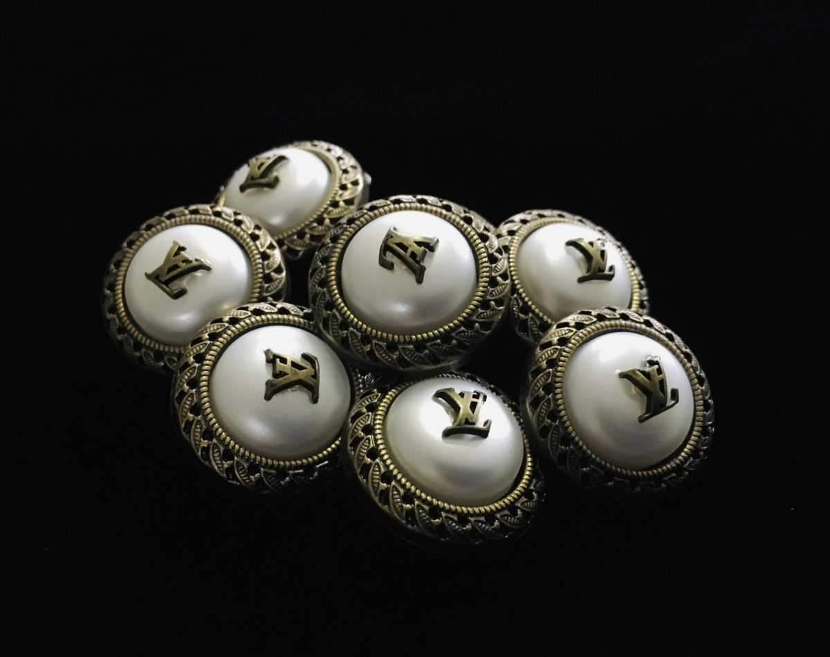 (2) LV Inspired Buttons, Designer Inspired Buttons 4