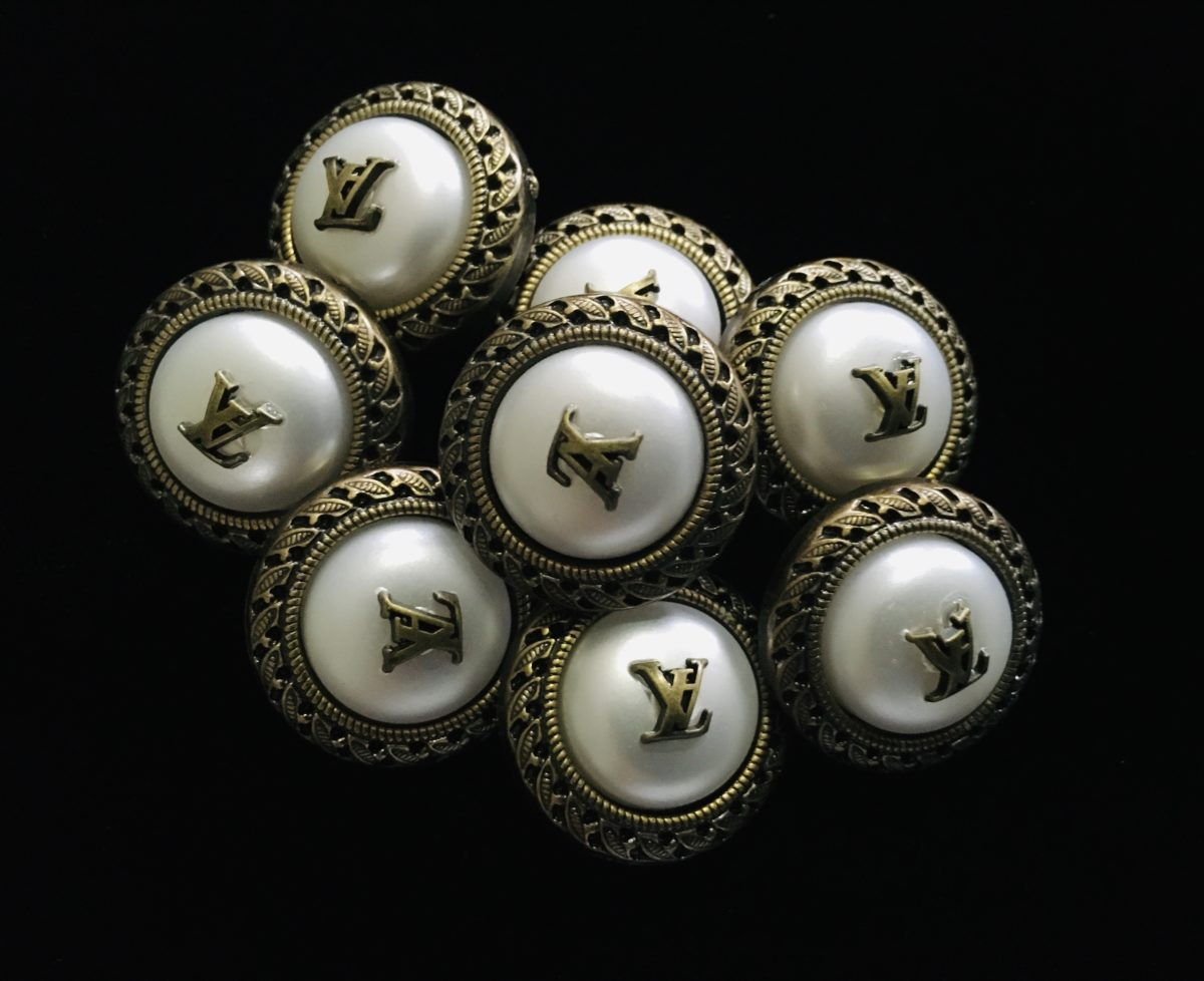 (2) LV Inspired Buttons, Designer Inspired Buttons 1