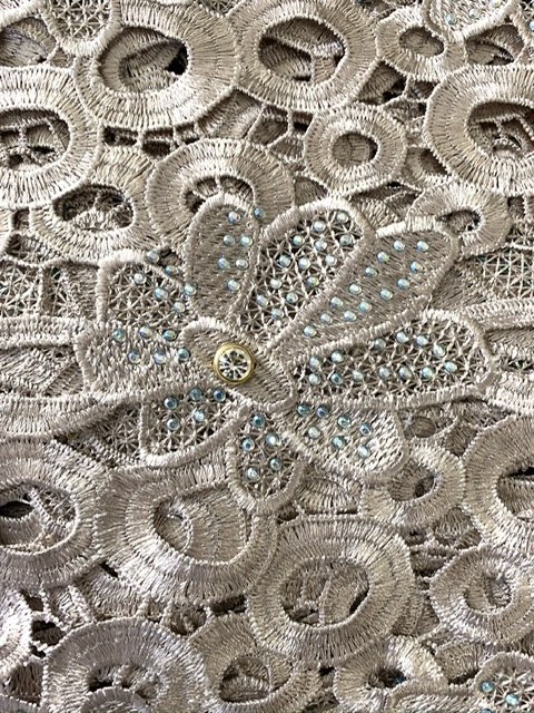 (5) Yards Gold Lace Fabric, High Quality Beading, Embroidered Lace, African Clothing 2